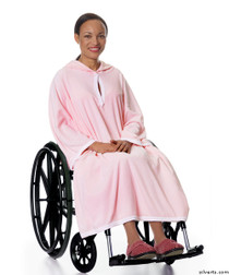 Silvert's 302000701 Terry Shower Cape  , Size ONE, BABY PINK