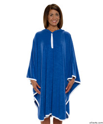 Silvert's 302000601 Terry Shower Cape  , Size ONE, COBALT