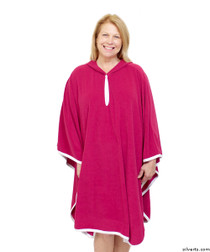 Silvert's 302000201 Terry Shower Cape  , Size ONE, PINK