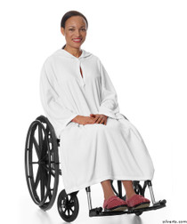 Silvert's 302000101 Terry Shower Cape  , Size ONE, WHITE