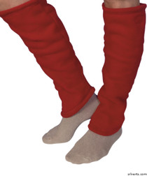 Silvert's 302600102 Women's Cozy Leg Warmers & Ankle Warmers , Size Small, RED