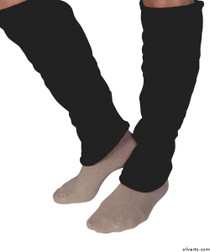 Silvert's 302600304 Women's Cozy Leg Warmers & Ankle Warmers , Size Large, BLACK