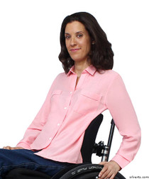 Silvert's 460230102 Womens Magnetic Closing Shirt , Size Medium, CORAL
