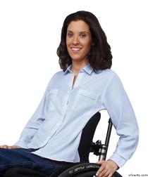 Silvert's 460230302 Womens Magnetic Closing Shirt , Size Medium, OXFORD BLUE