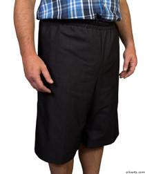 Silvert's 500400301 Mens Adaptive Shorts , Size X-Small, BLACK