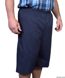 Silvert's 500400201 Mens Adaptive Shorts , Size X-Small, NAVY