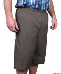 Silvert's 500400103 Mens Adaptive Shorts , Size Medium, CHARCOAL
