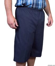 Silvert's 500400203 Mens Adaptive Shorts , Size Medium, NAVY