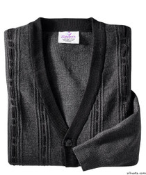 Silvert's 503700305 Cardigan Sweater For Men With Pockets , Size 2X-Large, CHARCOAL