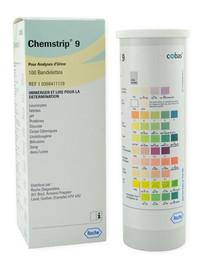 Roche 10398411119 Chemstrip 9 Urine Test Strips 100/btl