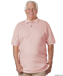 Silvert's 504900101 Mens Regular Knit Polo Shirt , Size Small, PINK