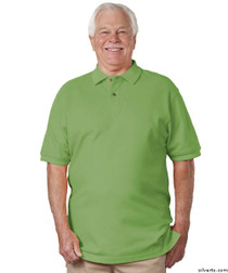 Silvert's 504900203 Mens Regular Knit Polo Shirt , Size Large, GREEN