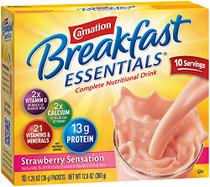 Carnation NN120787417 Breakfast Essentials Oral feeding Powder Strawberry 40g 1.41oz packet 60/Case (Carnation NN120787417)