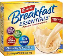 Carnation NN12078564 Breakfast Essentials Oral feeding Powder Vanilla 40g 1.41oz packet 60/Case (Carnation NN12078564)