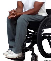 Silvert's 509400504 Fleece Adaptive Wheelchair Pants For Men , Size Large, GREY