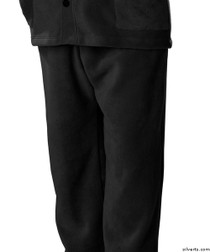 Silvert's 518100102 Mens Easy Access Clothing Polar Fleece Pants , Size Small, BLACK