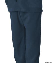 Silvert's 518100404 Mens Easy Access Clothing Polar Fleece Pants , Size Large, NAVY