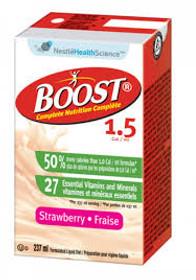 Nestle Nutrition 9521639 Boost 1.5 Plus Calories Strawberry 237ml (8oz) tetras 27/Case