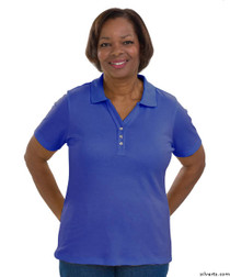 Silvert's 132100401 Short Sleeve Polo Style Tshirt, Size Small, ROYAL BLUE