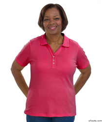 Silvert's 132100204 Short Sleeve Polo Style Tshirt, Size X-Large, FUSCHIA