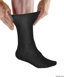 Silvert's 191200203 Womens & Mens Diabetic Socks , Size Medium, BLACK