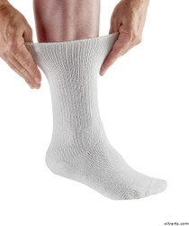 Silvert's 191200105 Womens & Mens Diabetic Socks , Size X-Large, WHITE