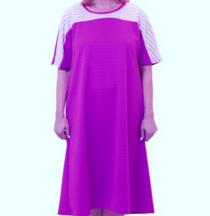 Silvert's 200600302 Ladies Casual Adaptive Back Snap Dress , Size Medium, LILAC (Silvert's 200600302