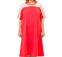 Silvert's 200600102 Ladies Casual Adaptive Back Snap Dress , Size Medium, RED (Silvert's 200600102)