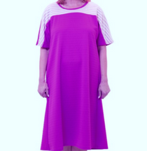 Silvert's 200600304 Ladies Casual Adaptive Back Snap Dress , Size X-Large, LILAC (Silvert's 200600304)