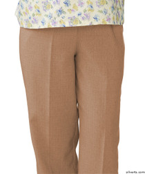 Silvert's 232200403 Womens Adaptive Open Back Wheelchair Pants , Size Large, CAMEL