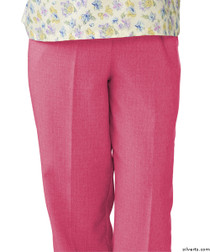 Silvert's 232200303 Womens Adaptive Open Back Wheelchair Pants , Size Large, CORAL