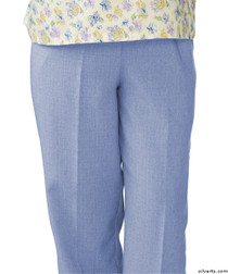 Silvert's 232200104 Womens Adaptive Open Back Wheelchair Pants , Size X-Large, CHAMBRAY