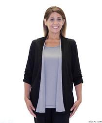 Silvert's 233700102 Womens Fashionable Adaptive Top , Size Medium, BLACK