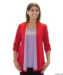 Silvert's 233700202 Womens Fashionable Adaptive Top , Size Medium, RED