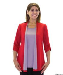 Silvert's 233700202 Womens Fashionable Adaptive Top , Size Medium, RED