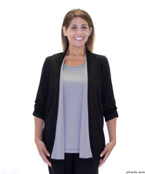 Silvert's 233700104 Womens Fashionable Adaptive Top , Size X-Large, BLACK