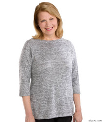 Silvert's 235100103 Lovely Adaptive Top For Women, Size Large, GRAY