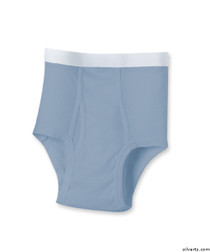 Silvert's 502500204 Mens Regular Cotton Briefs, Size Large, BLUE