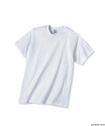 Silvert's 502800103 Mens Traditional Tshirt, Size Medium, WHITE