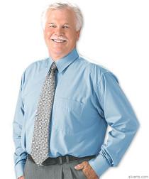 Silvert's 503200102 Mens Regular Washable Long Sleeve Dress Shirt, Size Medium, WHITE