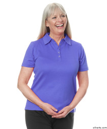 Silvert's 136600201 Womens Polo Shirt For Seniors , Size Small, PERIWINKLE