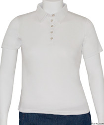 Silvert's 136600301 Womens Polo Shirt For Seniors , Size Small, WHITE