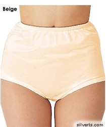 Silvert's 180300203 Womens Nylon Briefs , Size Medium, BEIGE