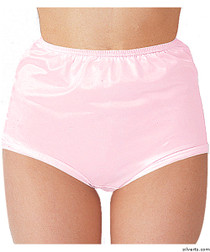 Silvert's 180300404 Womens Nylon Briefs , Size Large, PINK