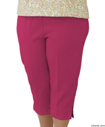 Silvert's 233500201 Womens Open Side Arthritis Adaptive Capris , Size Small, ORCHID