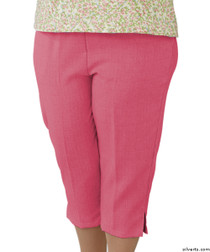 Silvert's 233500301 Womens Open Side Arthritis Adaptive Capris , Size Small, CORAL