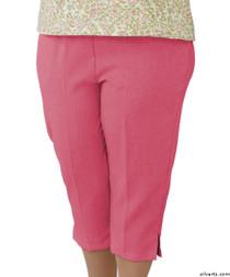 Silvert's 233500302 Womens Open Side Arthritis Adaptive Capris , Size Medium, CORAL