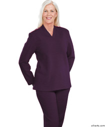 Silvert's 252500401 Plus Size Adaptive Tracksuit For Women , Size Small, PLUM