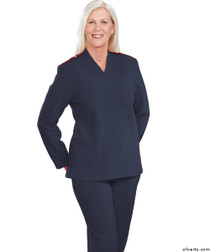 Silvert's 252500301 Plus Size Adaptive Tracksuit For Women , Size Small, NAVY