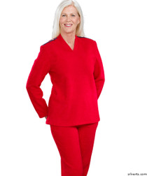 Silvert's 252500201 Plus Size Adaptive Tracksuit For Women , Size Small, RED